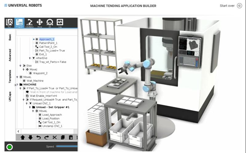 Application Builder pantalla