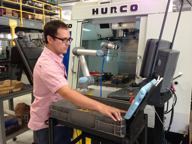 RSS Manufacturing and Phylrich in Southern California uses a UR5 cobot
