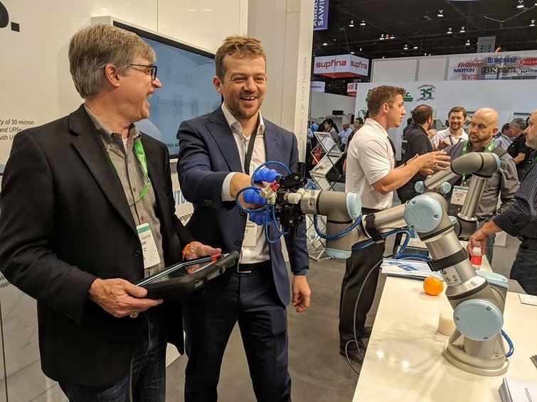 CEO-of-soft-robotics-Carl-Vause-and-Esben-Østergaard