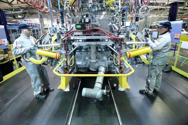 Cobot Universal Robots, PSA France