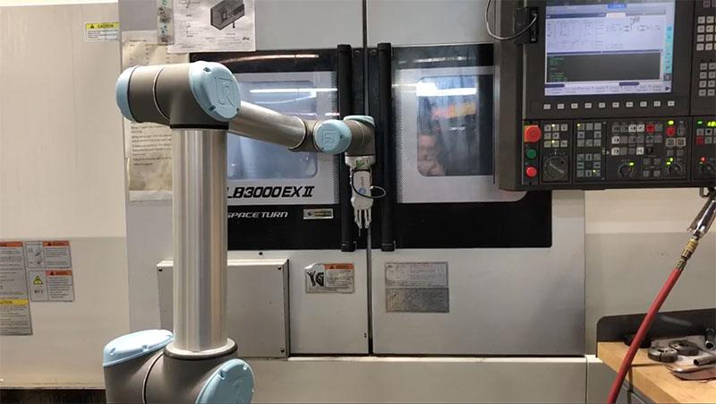 UR-collaborative-robot-opening-door