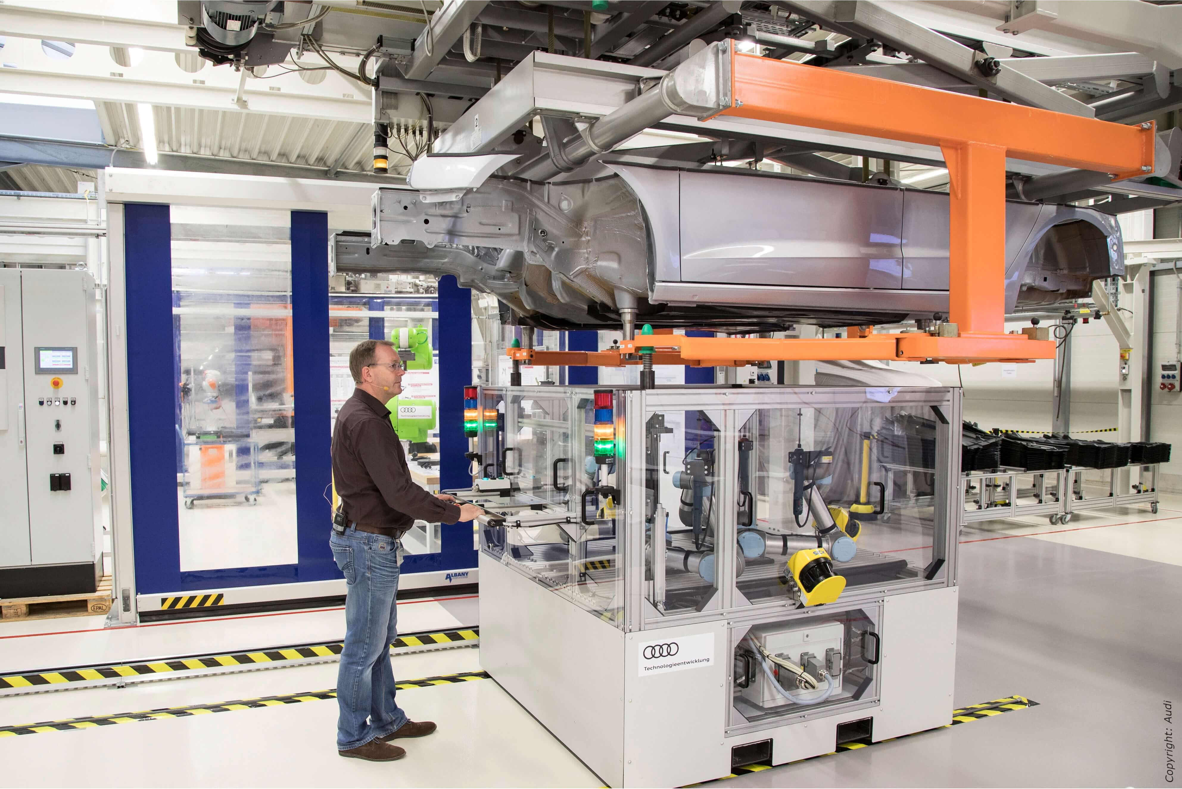 Modularer Montageansatz Audi