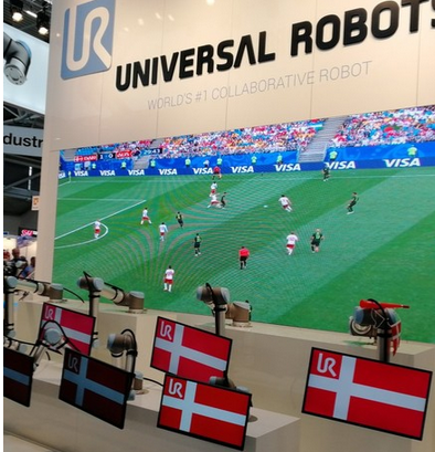 World cup during automatica fair - universal robots