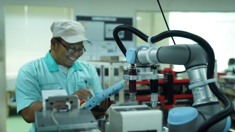 UR3 cobots has lessened the burden on workers
