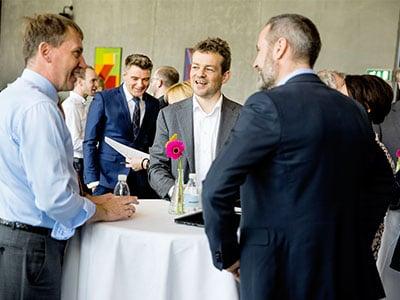 Book Reception Enrico Krog Iversen And Esben Østergaard From Universal Robots