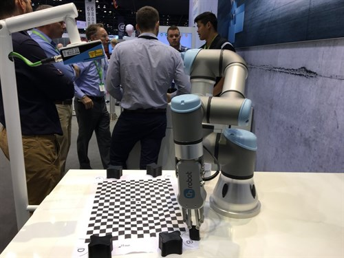 Cobot With On Robot Gribber And Sick Vision Camera