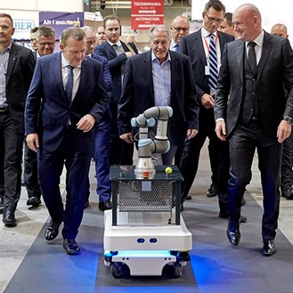 Collaborative Robots On The Move With Mobile Industrial Robots Mir