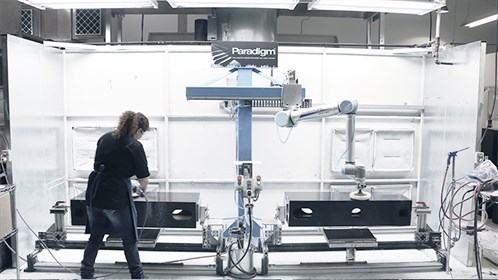 Ur10 Robot Working Side By Side With A Human Cobots