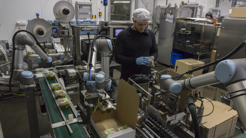 UR-Roboter bei Atria